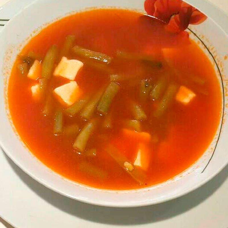 Sopa de Ejotes con Apio